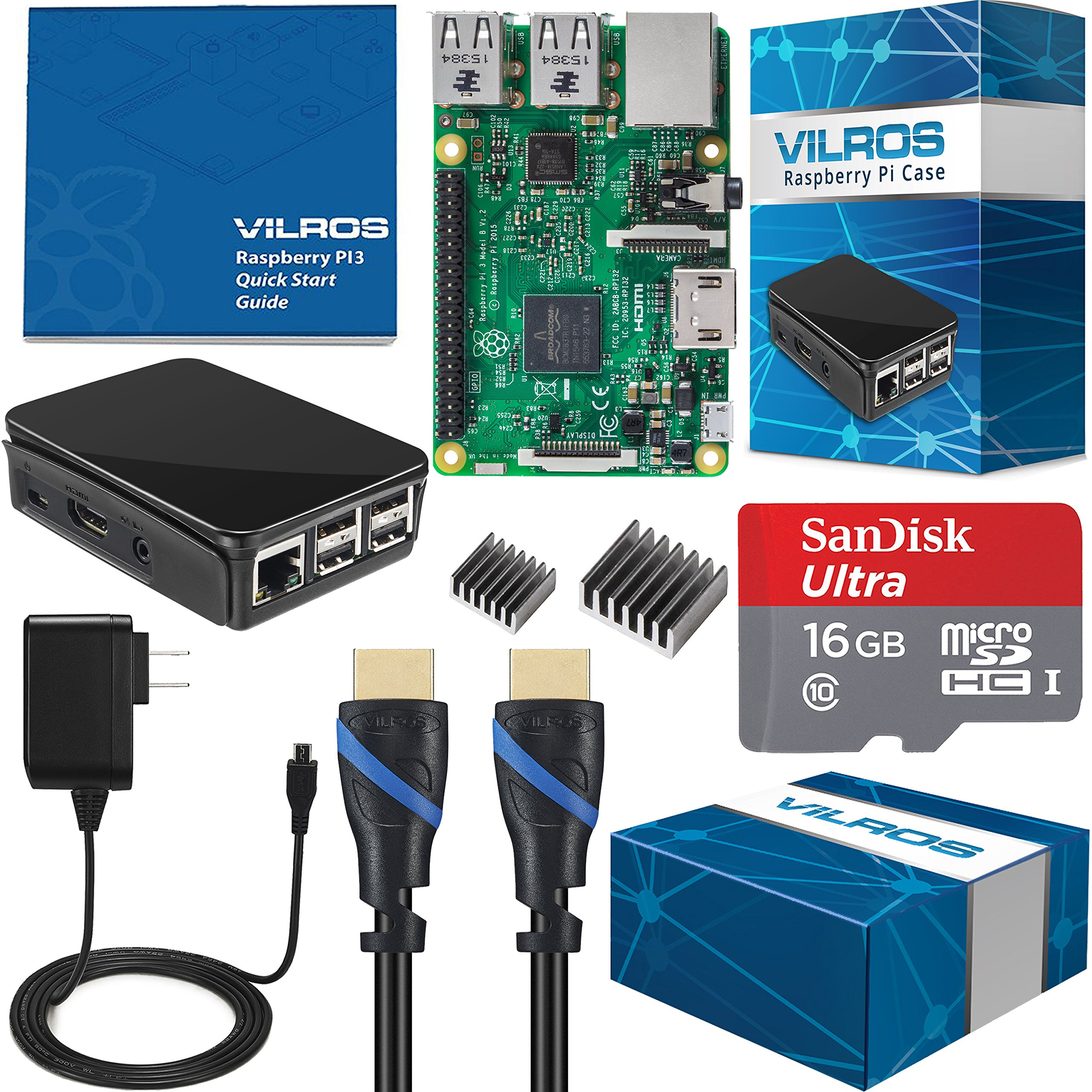 Vilros Raspberry Pi 3 Complete Starter Kit - 16GB Edition