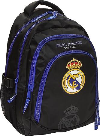 Mochila escolar Ronaldo del Real Madrid exclusiva y ergonómica, 46 x 32 x 24 cm, 2017: Amazon.es: Deportes y aire libre