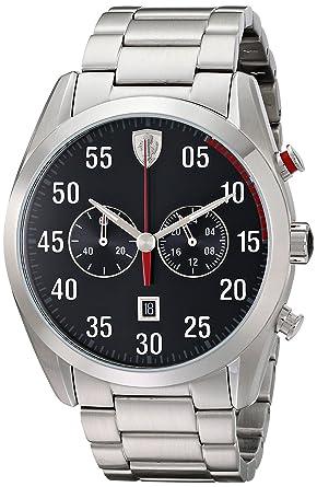 Ferrari Mens Og Display Quartz Silver Watch
