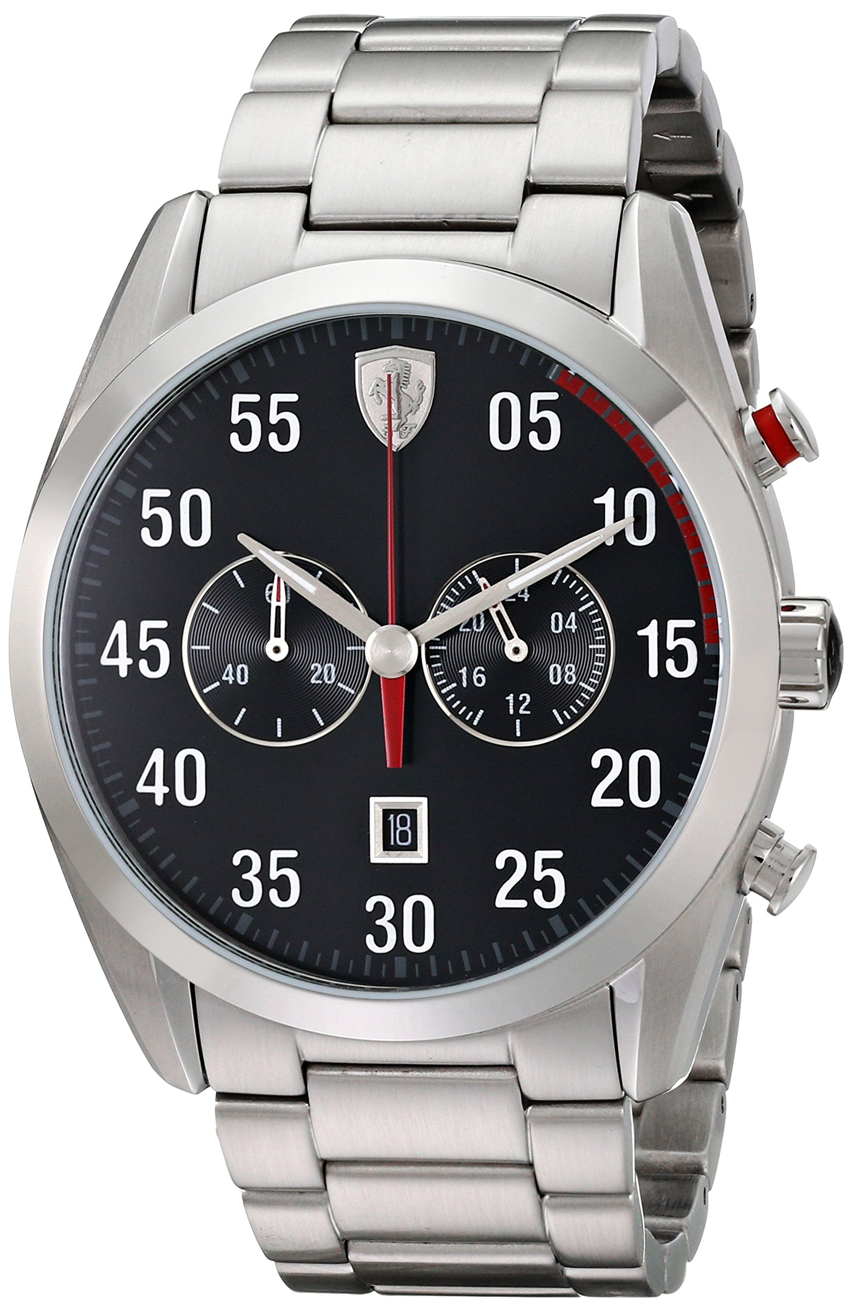 Ferrari Men's 0830176 D 50 Analog Display Quartz Silver Watch