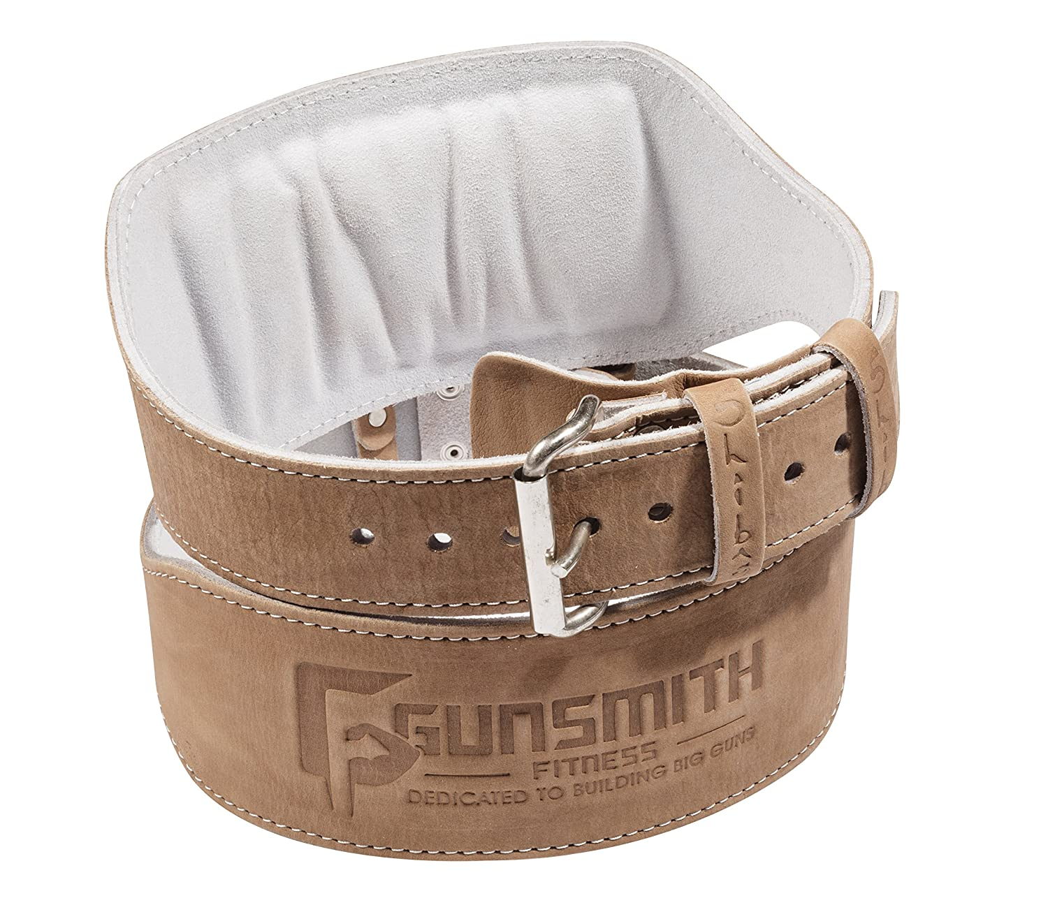 Gunsmith Fitness Premium 100 Real Genuine Leather Individually Handmade, Advanced Weight Lifting, Powerlifting Bodybuilding