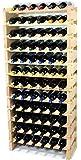 Modular Wine Rack Beechwood 24-72 Bottle Capacity 6 Bottles Across up to 12 Rows Newest Improved Model (72 Bottles - 12 Rows)