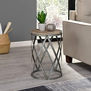 FirsTime & Co. Westbrook Farmhouse Cottage Galvanized Table
