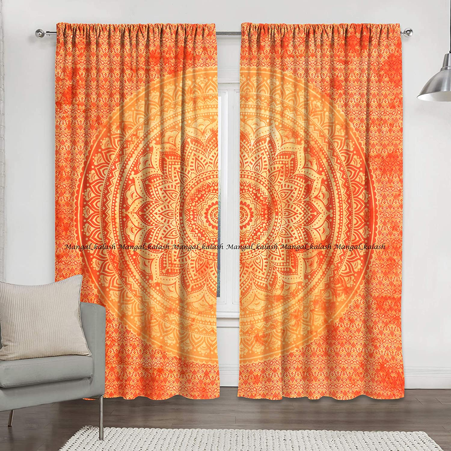 100/% Cotton mandala window door curtain indian ombre hippie bohemian tapestry drapes wall hanging throw living room treatment decor
