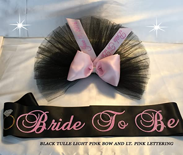 bride to be bikini veil bridal shower sash booty veil booty cover