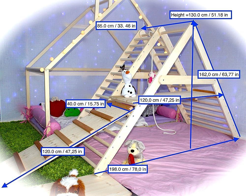 BUGi palestra per bambini piccoli Scala da arrampicata per bambini Step Triangle UGi Triangolo per bambini Puoi scegliere senza o con una o due rampe nelle opzioni Palestra per bambini