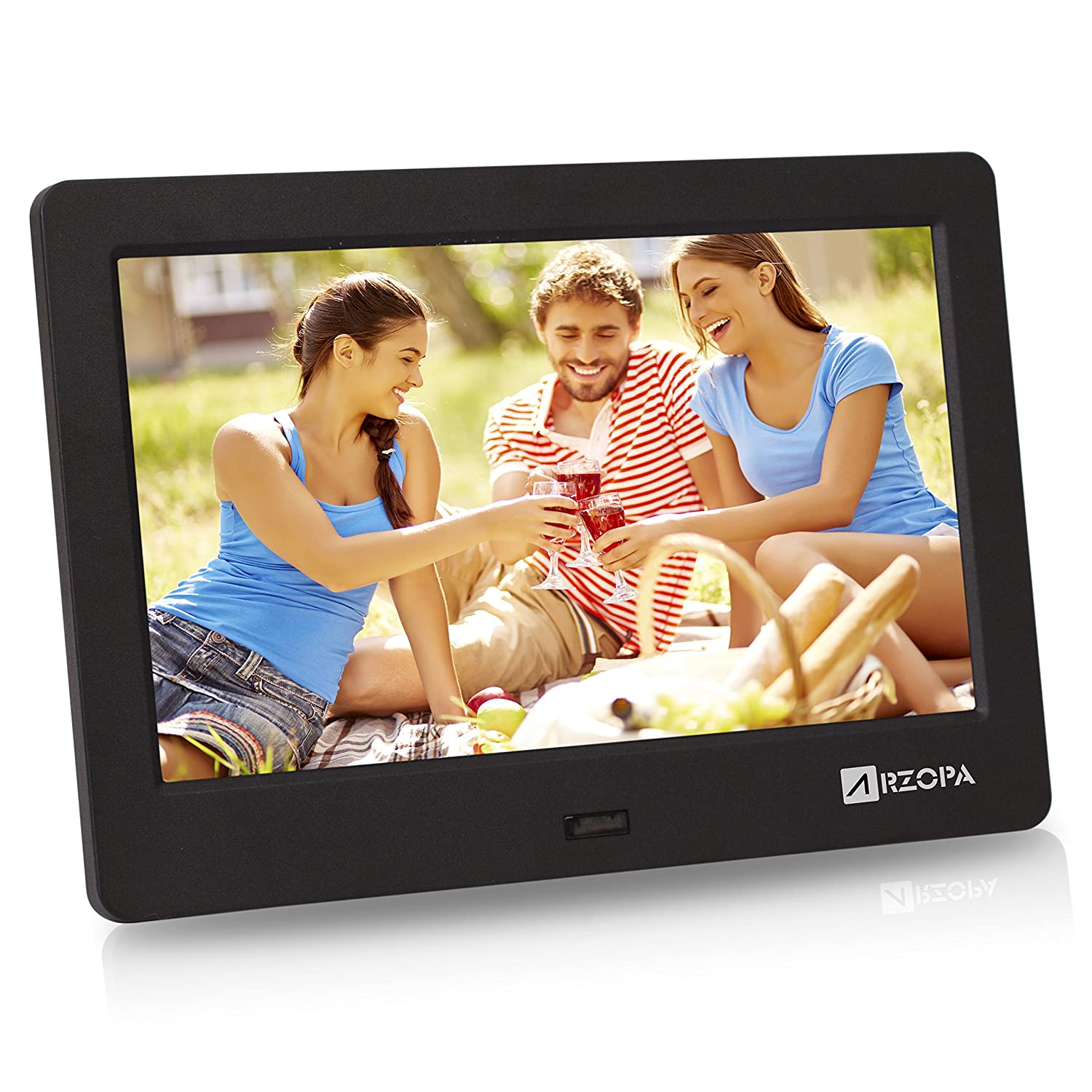 Amazon digital picture frames electronics arzopa 7 inch ips widescreen digital photo frame hd 1024x600169 jeuxipadfo Image collections