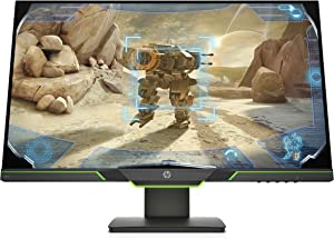 "HP X27i 27"" 2k Gaming Monitor with AMD FreeSync, 1440p 144Hz, QHD, IPS, Ambient Lighting, Height Adjustable, Narrow Bezel (8AG16AA)"