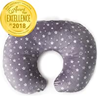 Minky Nursing Pillow Cover | Stars Pattern Slipcover | Best for Breastfeeding Moms | Soft Fabric Fits Snug On Infant Nursing Pillows to Aid Mothers While Breast Feeding | Great Baby Shower Gift