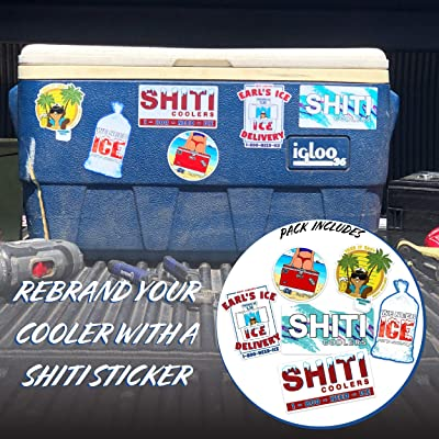 Built For The Broke SHITI Coolers – Assorted Stickers 6-Pack: Garden & Outdoor