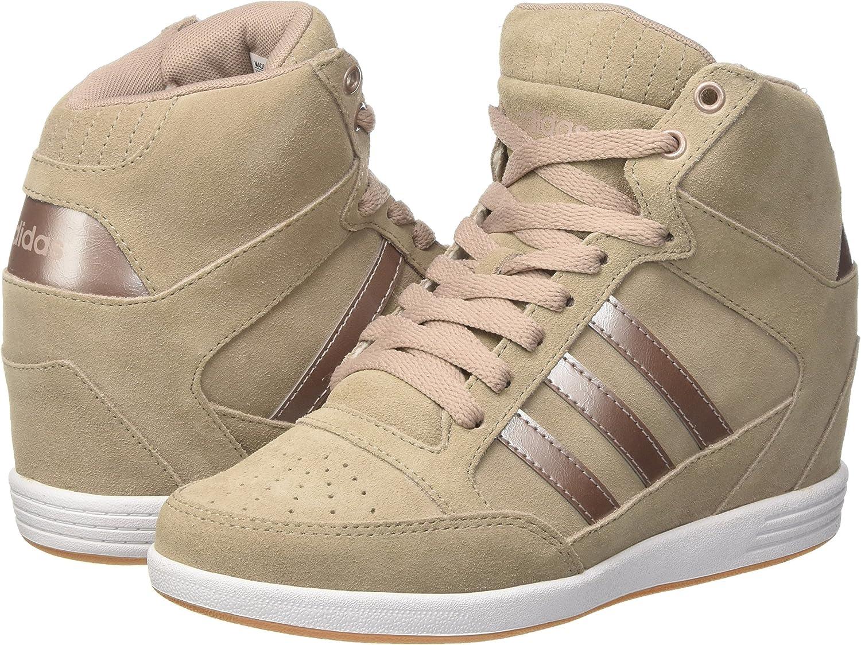 adidas Super Wedge W, Sneaker Basses Femme, Grigio (Vapgre
