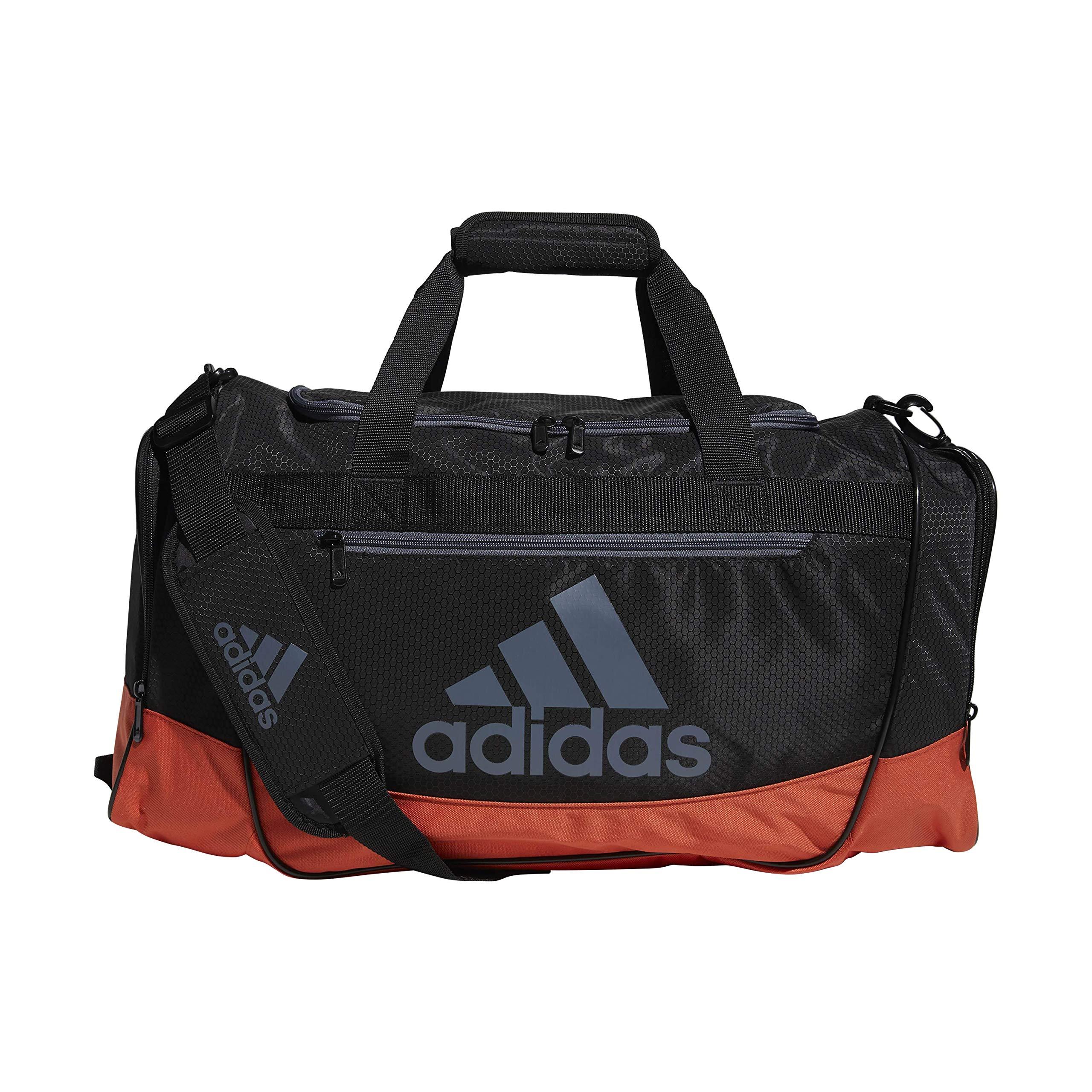 adidas Defender III Medium Duffel, Black/Raw Amber Orange/Onix, One Size by adidas