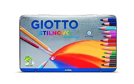 Giotto 256200 - Stilnovo Acquarell Pastelli Acquarellabili Scatola Metallo  da 24 Colori 47ec28758e8