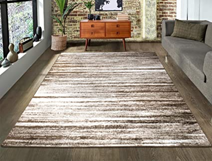 A2z Rug Contemporary Brown Palma 1495 Area Rugs 140x200 Cm 4 6 X6 6 Ft Amazon Co Uk Kitchen Home