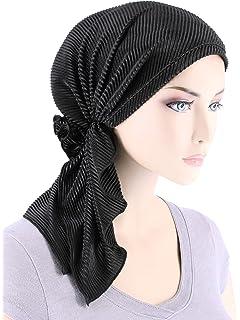 c0a51b40851 Bella Scarf Plisse Chemo Hat Turban Head Scarves Pre-Tied Headwear Bandana  Tichel for Cancer