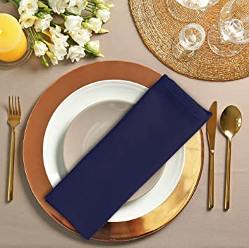 Utopia Kitchen Cotton Dinner Napkins 12 Pack 46 X 46 Cm Soft And Comfortable Durable Hotel Quality Ideal For Events And Regular Home Use Navy Amazon Co Uk Kitchen Home