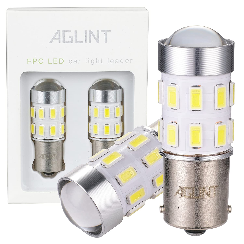 AGLINT 1156 LED Lampadina P21W BA15S 24SMD Super Luminoso Auto Freno Turn Luce di Segnale di Luce di Retromarcia Fanale Posteriore Bianca 6000K