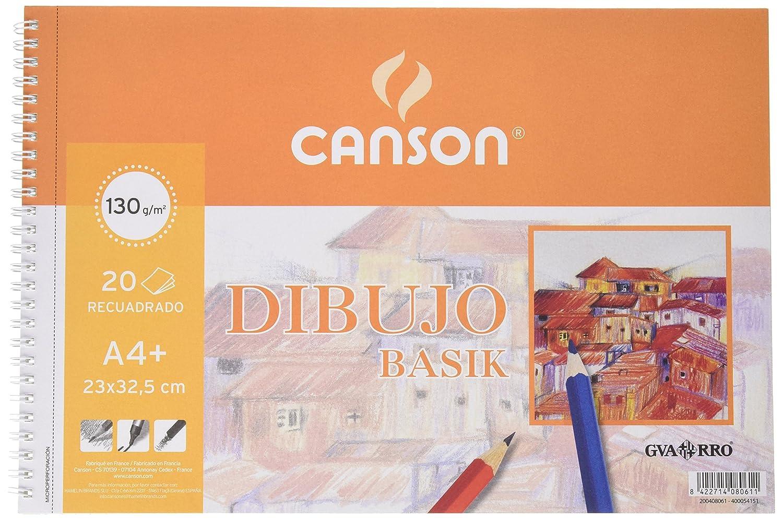 Gvarro Canson 200408061- Bloc A4, 20 hojas y recambio, 130 gr