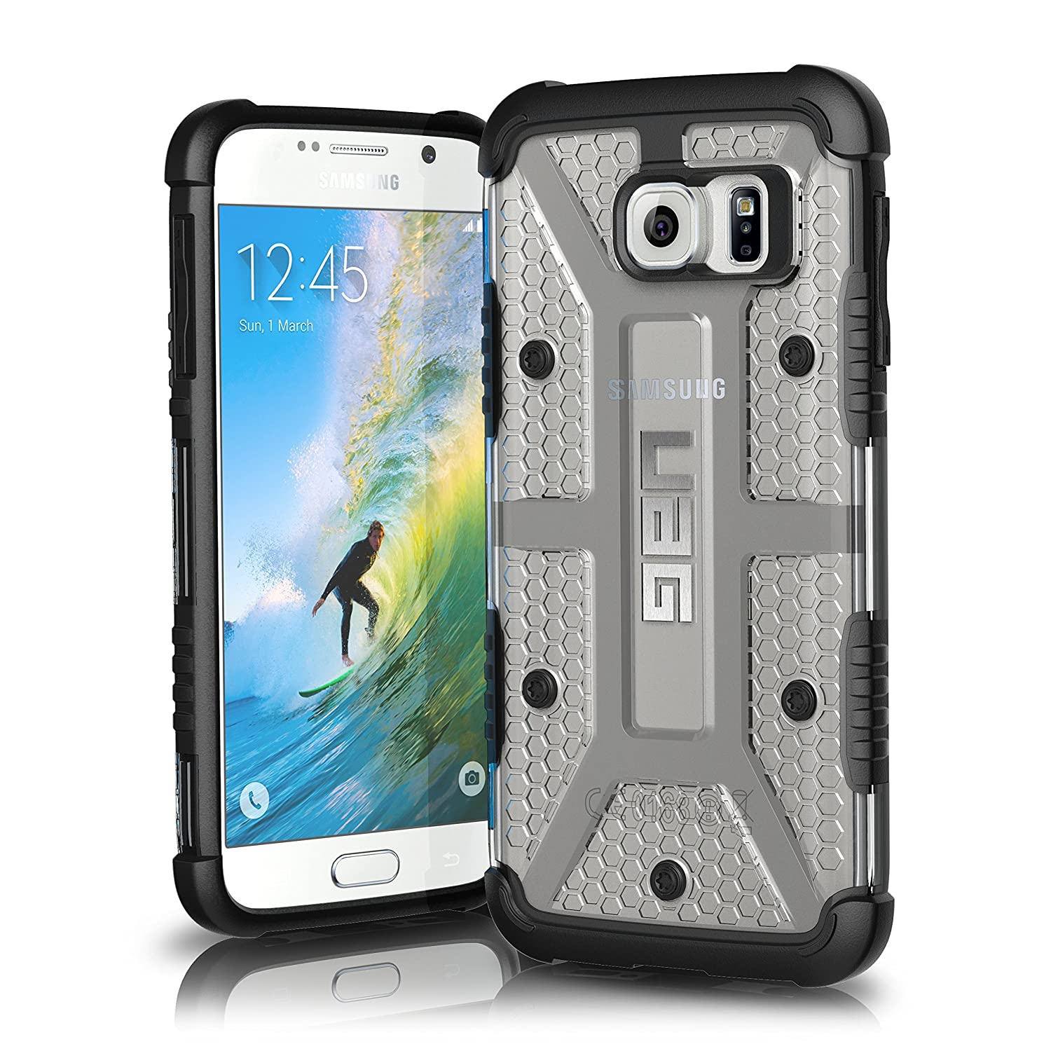 Amazon UAG Samsung Galaxy S6 [5 1 inch Screen] Feather Light posite [ICE] Military Drop Tested Phone Case Cell Phones & Accessories