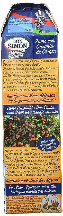 Don Simon - Zumo Naranja Exprimida 1 L: Amazon.es: Alimentación y bebidas