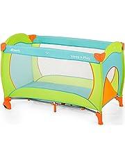 Hauck Sleep N Play Go Plus - Cuna de viaje para bebes a partir de 0 meses hasta 15 kg, incluido bolso de transporte, con cremallera en apertura lateral, plegable