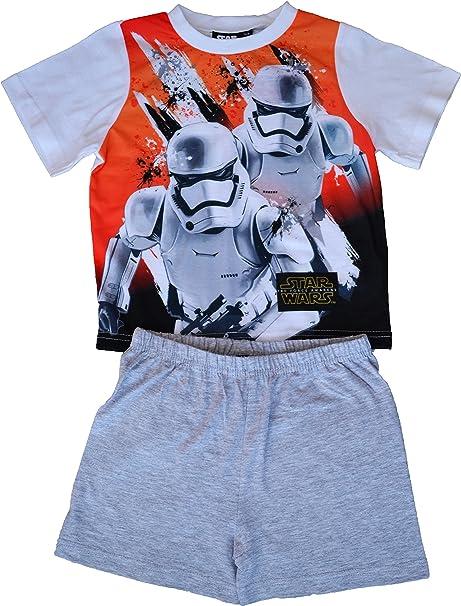 Star Wars - Pijama dos piezas - Manga corta - para niño Gris gris 4 años
