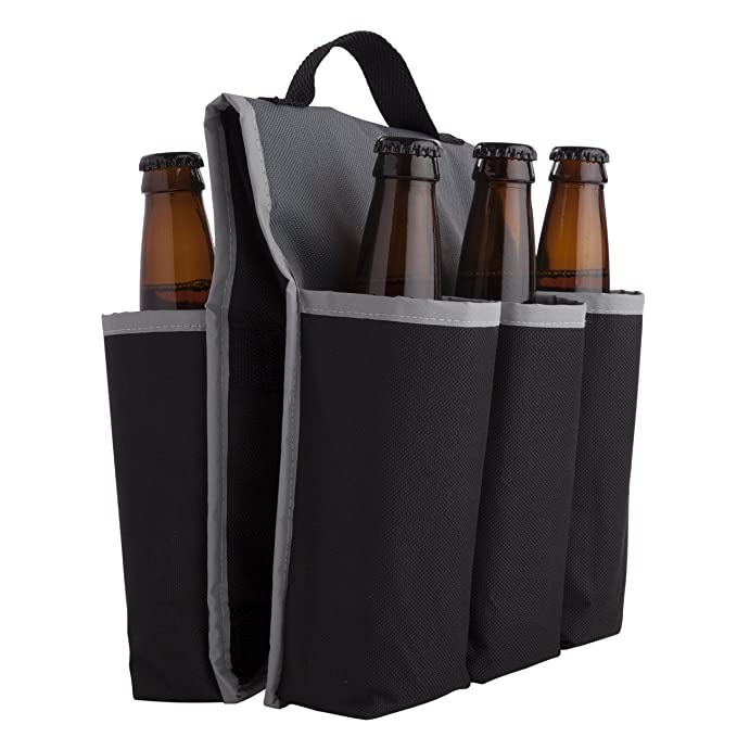 Amazon.com: Beer Gear 6 Pack Insulated saddlebag Bike Carrier by True: Home & Kitchen