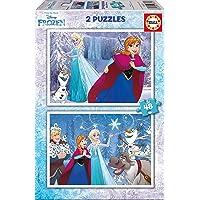Educa - Frozen, 2 Puzzles infantiles de 48 piezas, a partir de 4 años (16852)