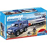 Playmobil 5187 City Action Police Truck with Speedboat