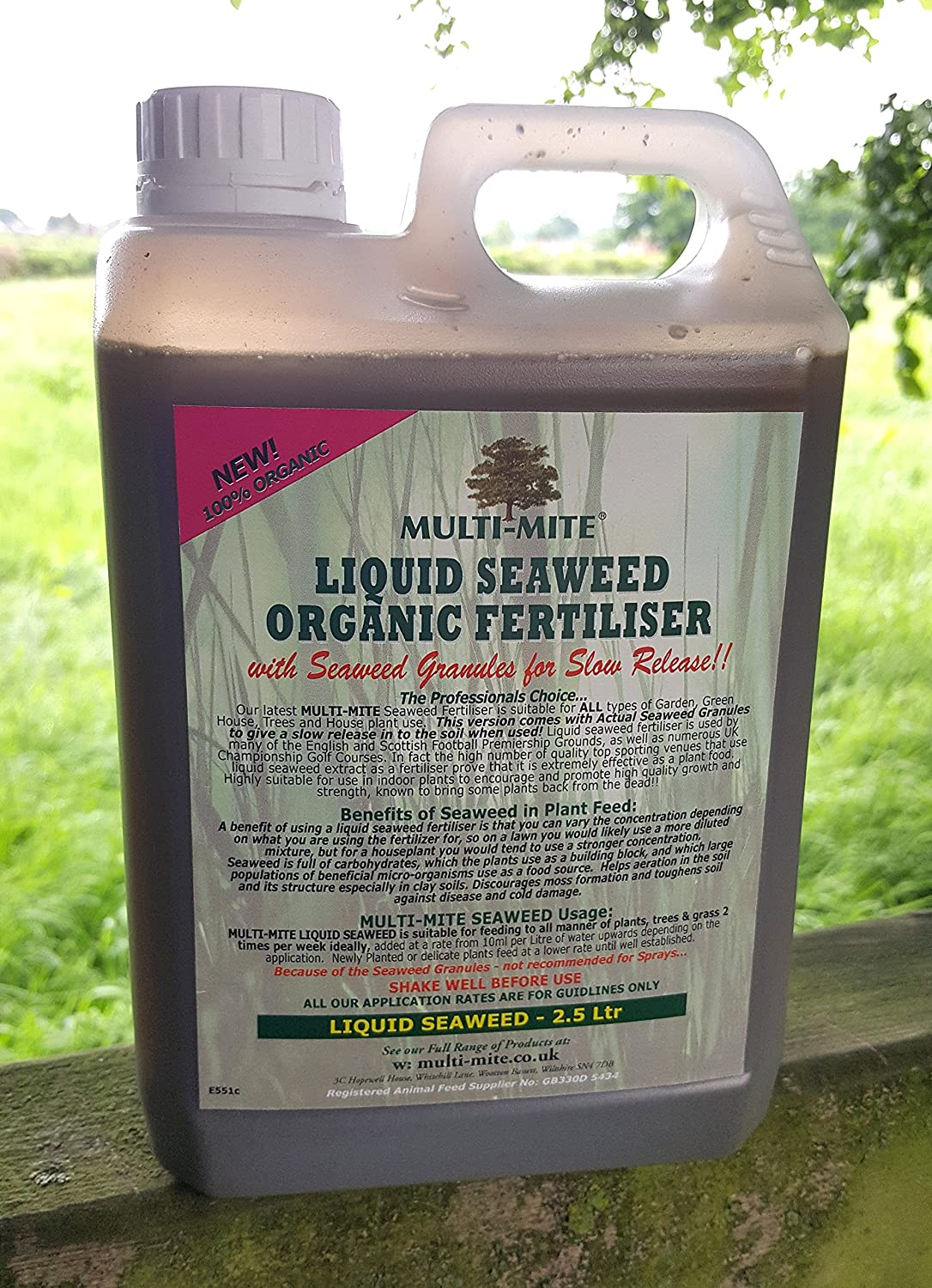 2.5 Ltr LIQUID SEAWEED with SEAWEED GRANULES FREE DELIVERY - for SLOW RELEASE! - Organic Concentrate - Multi-Mite®
