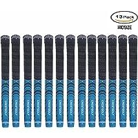 kofull Club de Golf grips-13pcs, goma de combinar con carbono Patio estándar Midsize Unisex para Golf hierro y madera