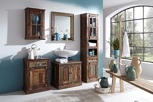 SalesFever Badezimmer-Set lackiert mit Schränken und Spiegel ...