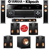 Klipsch RP-250F Reference Premiere 7.1 Home Theater System with Yamaha RX-A1060BL AVENTAGE 7.2-Ch Network A/V Receiver