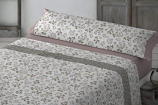 Clara Vidal Juego de sábana 3 Piezas 100% algodón: Amazon.es: Hogar