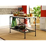 Coaster Home Furnishings Kitchen Cart With Towel Bar Black And White