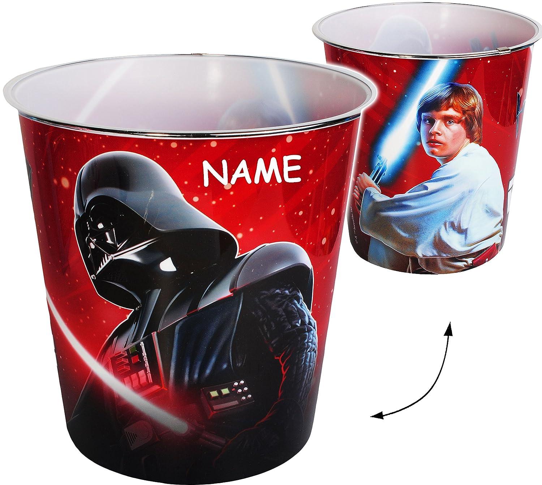 Name Star Wars Darth Vader auch als Blu.. Spielzeugkorb // Popcornsch/üssel // M/ülleimer Eimer 8 Liter aus Kunststoff Papierkorb // Beh/älter incl