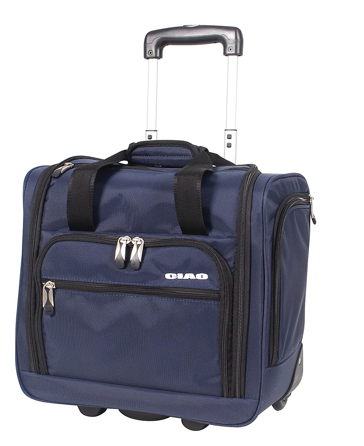 Ciao Luggage Carry On Suitcase Wheeled Airplane Weekender Under the Seat Bag CIAO! 695395