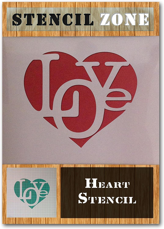 Coeur Amour Mylar Airbrush Peinture murale Art Artisanat Stencil 4 Taille A1 Pochoir - Xlarge