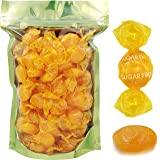 Butterscotch Button Round Hard Candy, Sugar-Free, Individually Wrapped (80 Count (1 LBS))