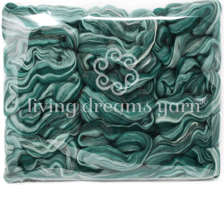 Loch Ness Super Soft Combed Top Color Blend Superfine Merino Fiber for Spinning /& Felting