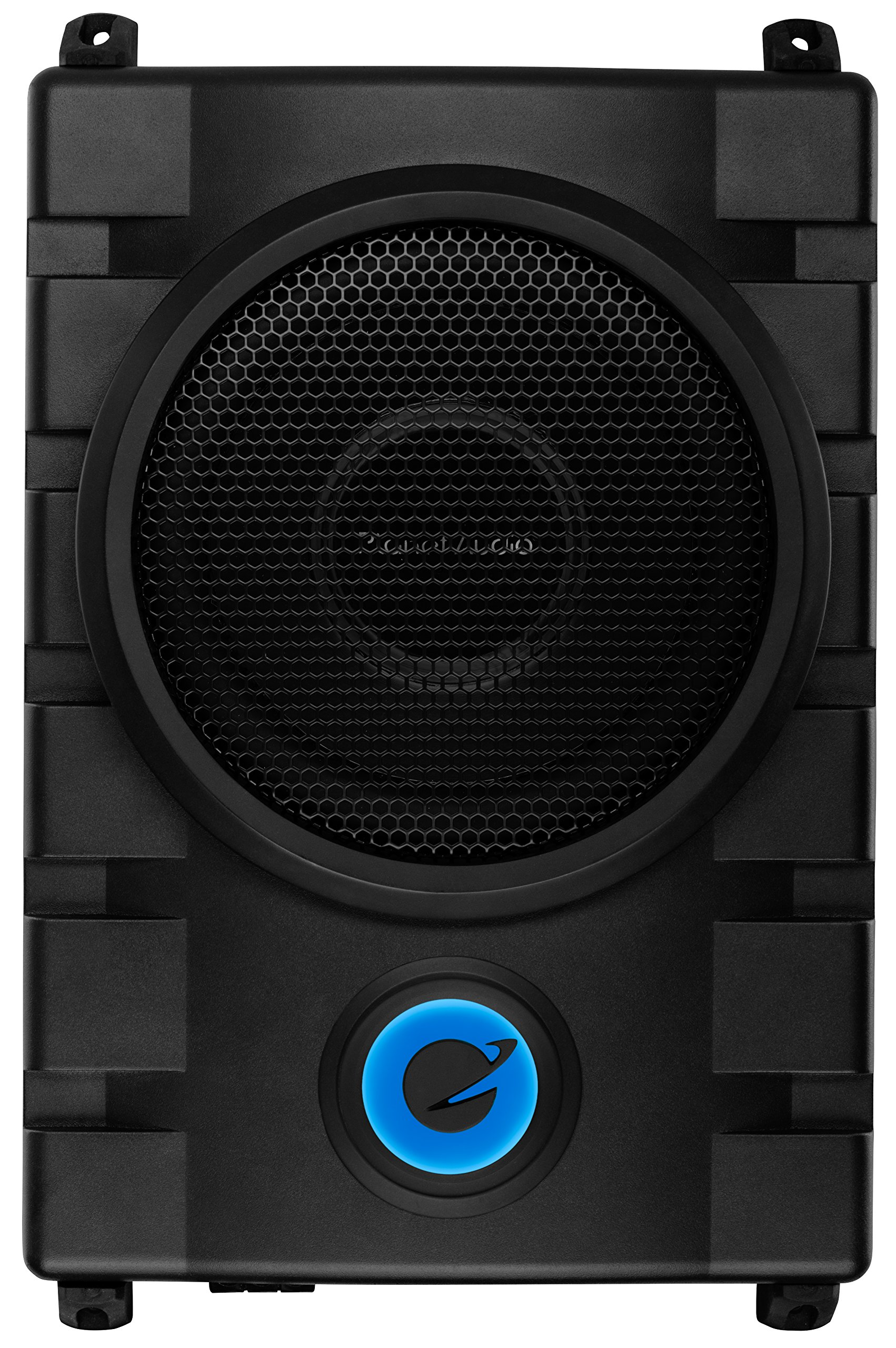 Planet Audio P8UAW 800 Watt Low Profile Amplified 8 Inch Subwoofer with Remote Subwoofer Control