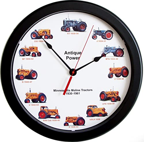 New 14 Massive Minneapolis Moline Wheel Dial Clock Vintage Tractors from 1930-1961 14 Inches Round