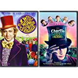 Willy Wonka & the Chocolate Factory Original + Charlie & The Chocolate Factory Tim Burton Johnny Depp Fantasy double…