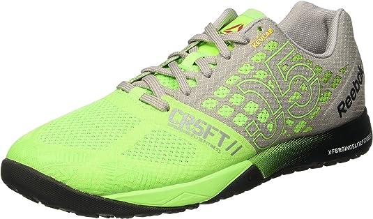 Reebok R Crossfit Nano 5.0 Zapatillas de deporte, Verde / Gris / Negro (Solar Green/Tin Grey/Black/Shark), 38.5: Amazon.es: Zapatos y complementos