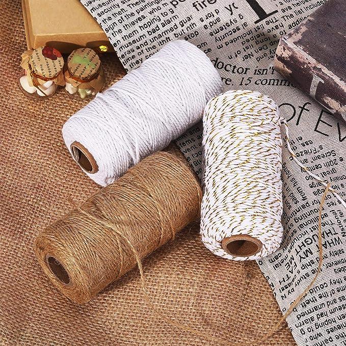 Amazon.com: Pangda 984 pies algodón Baker cordel 0.079 in ...