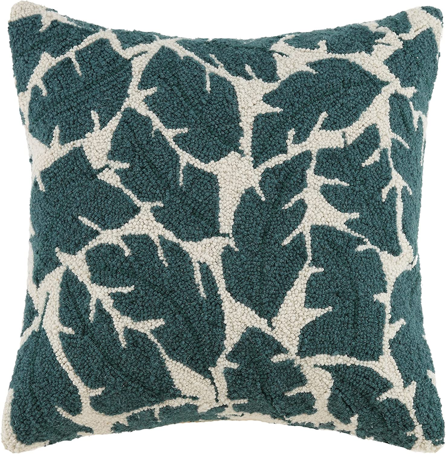 Amazon Com Makers Collective Elizabeth Olwen Rise And Shine Leaves Hook Pillow 18 By 18 Home Kitchen
