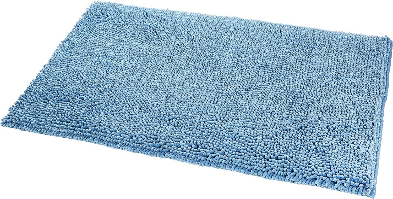KKLTDI Peloso Assorbente Tappetino da Bagno Antiscivolo Microfibra Ciniglia Morbido Tappeto da Bagno per Vasca da Terra Confortevole Tappeti da Bagno-Verde 65x45cm 26x18in