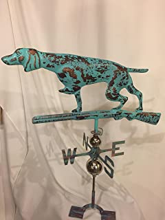 product image for Furniture Barn USA Large Handcrafted 3D 3- Dimensional Dog and Gun Hunting Weathervane Copper Patina Finish