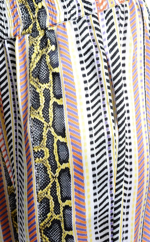 Just Cavalli Women's Multi-Color Striped Casual Pants US 4 IT 40