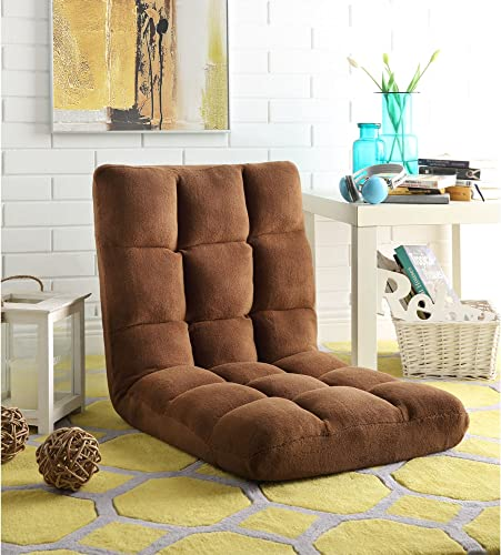 Loungie Brown Microplush Recliner Chair